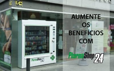 Aumento dos benefícios com a maquina vending de farmácia PharmaShop24