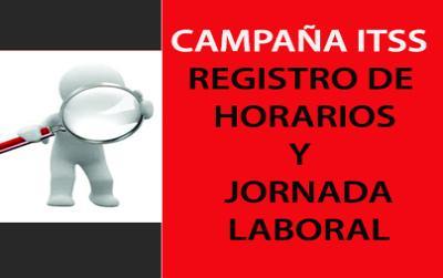 Campaña Registro de horarios y jornada laboral de la Inspeccion de trabajo