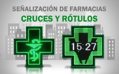 cruces y rotulos de farmacia