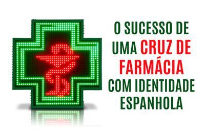 Cruz de farmacia de leds Pontevedra