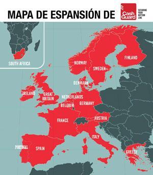 Mapa de expansión de Cashguard - Exclusivas Iglesias