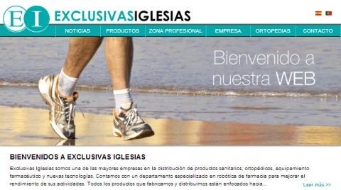 Novo site de Exclusivas Iglesias- Exclusivas Iglesias