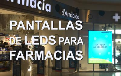 Pantallas de leds para publicidad en farmacia