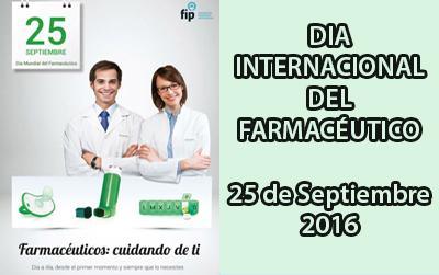 Cartel Dia Internacional del Farmacéutico 25 de Septiembre 2016