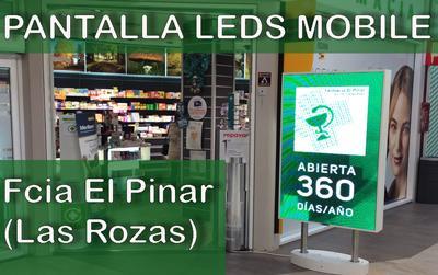 Pantalla de LEDs Mobile en la Farmacia El Pinar (Las Rozas)