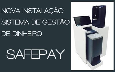 Uma nova instalação de sistema de gestão de dinheiro Safepay