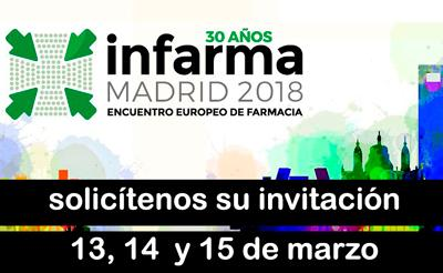 Solicítenos su invitación para Infarma 2018