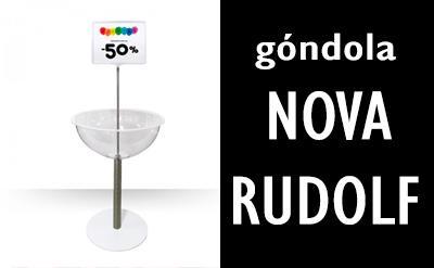 Novo expositor Gondola Nova Rudolf