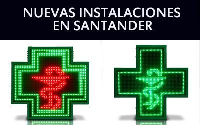 Nuevas instalaciones de Cruces de Farmacia de LEDs en Santander