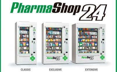 Máquinas vending para farmácia Pharmashop24