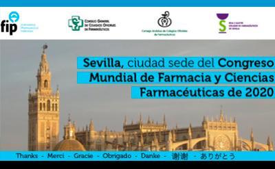 Sevilla, sede en 2020 del Congreso Mundial de Farmacia y Ciencias farmacéuticas