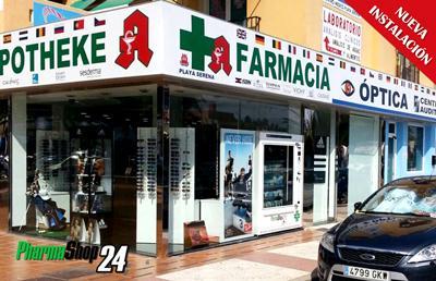Nueva instalación de máquina expendedora Pharmashop24